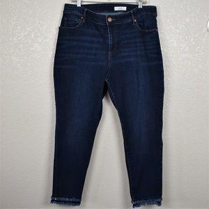 Loft Plus Ankle Frayed Hem Jeans Sz 18